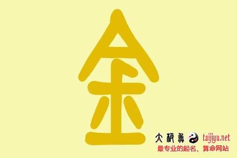 八字喜用神五行属金字的起名名字大全